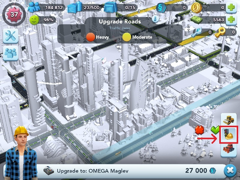 Upgrade roads to Maglev tracks | SimCity BuildIt