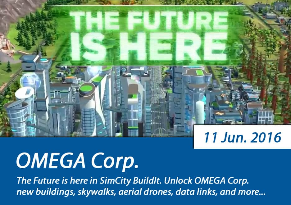 SimCity BuildIt OMEGA Corp. update